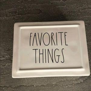 Brand new Rae Dunn favorite things jewelry box